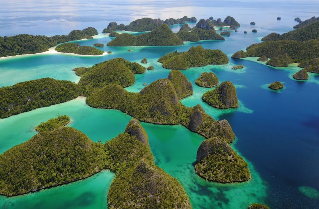 The Wayag Islands at Raja Ampat
