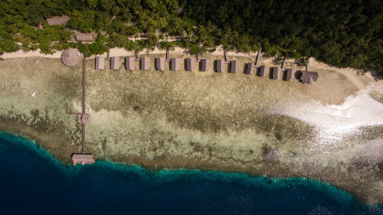 (English) Topview of Papua Explorers Dive Resort in Raja Ampat