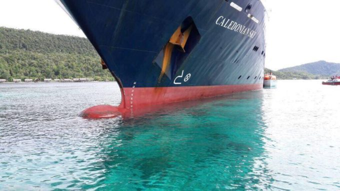 (English) Cruise ship hits Crossover Reef – the impact on the reef