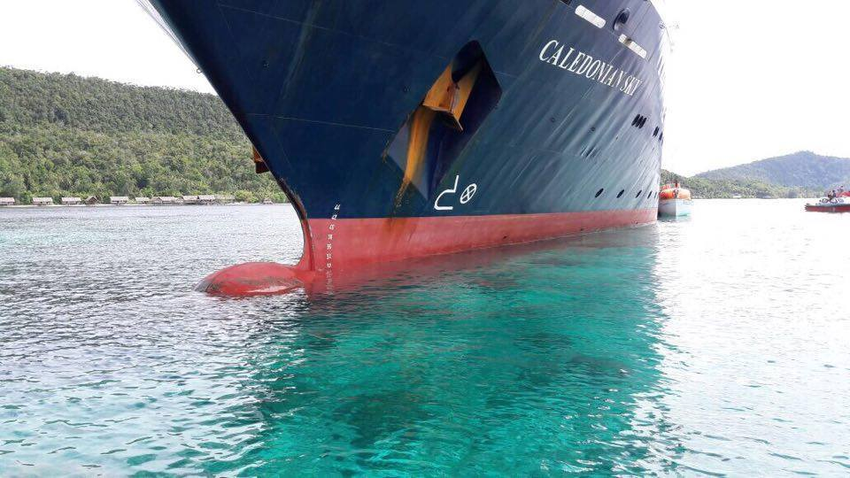 Cruise ship hits Crossover Reef – the impact on the reef