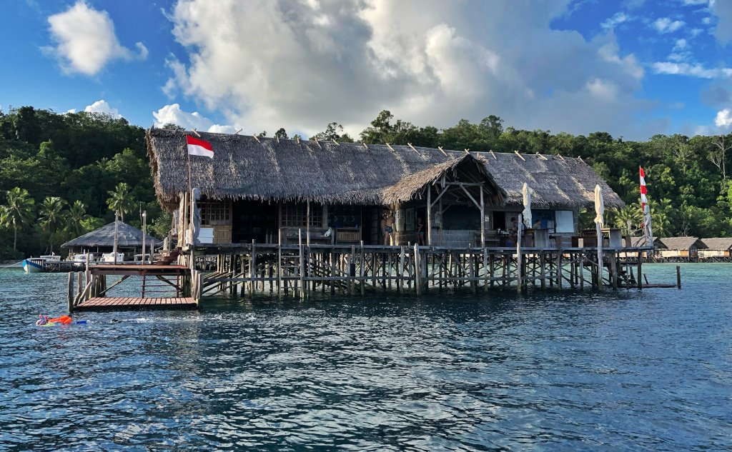 the Dive Center building of Papua Explorers Resort