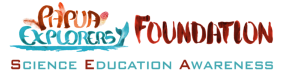 logo of our Papua Explorers Foundation in Raja Ampat