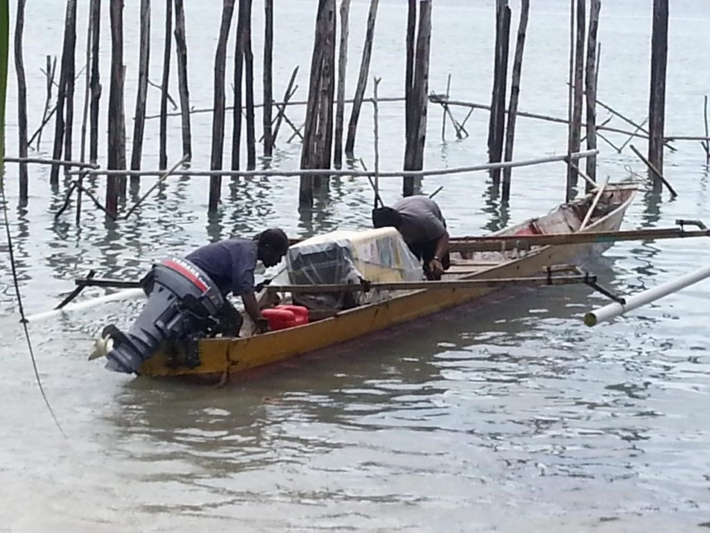 A basic Papuan wooden boat that we used during the construction of our eco resort in Raja Ampat