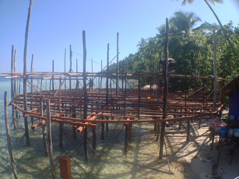 The basic structure of our Papua Explorers restaurant during construction