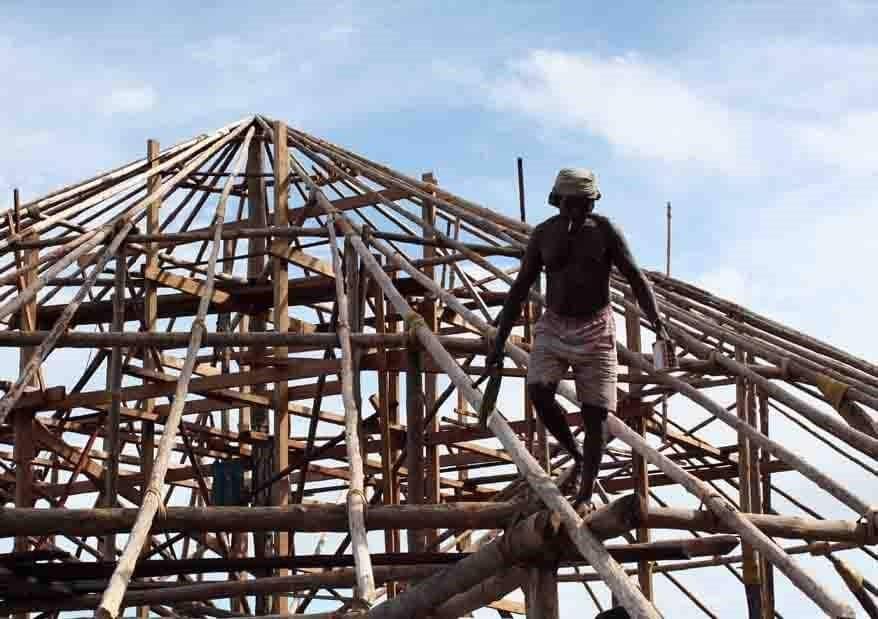 Restaurant Roof Construction Papua Explorers Raja Ampat