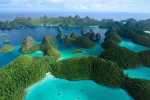 Aerial View of the Wayag Islands