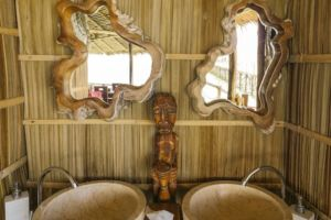 handwash facilties in our over water restaurant in Raja Ampat