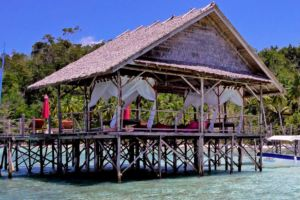 Our Papua Explorers spa is built right above the waters of Raja Ampat