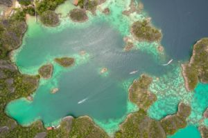 penemu or piyanemo island in indonesia from the top