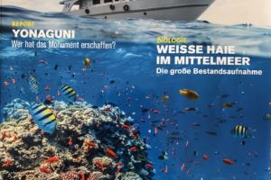 front page of Papua Explorers article in German dive magazine