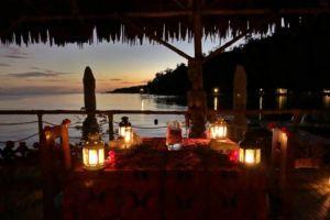 Nightime Ambiance at our Restaurant - Papua Explorers Resort, Raja Ampat