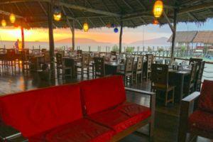Restaurant at Sunrise - Papua Explorers Resort